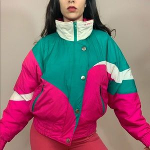 True 80s vintage ski snowboard winter snow jacket
